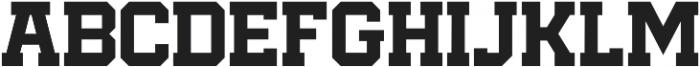 KVC-Bucktooth Block otf (400) Font LOWERCASE