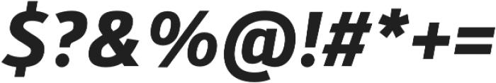 Kylo Sans Bold Italic otf (700) Font OTHER CHARS