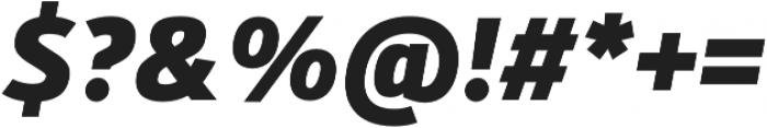 Kylo Sans ExtraBold Italic otf (700) Font OTHER CHARS