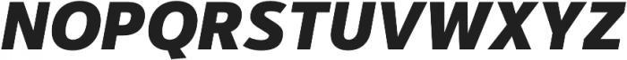 Kylo Sans ExtraBold Italic otf (700) Font UPPERCASE