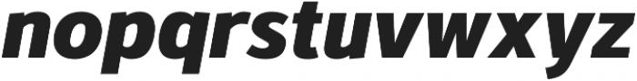 Kylo Sans ExtraBold Italic otf (700) Font LOWERCASE