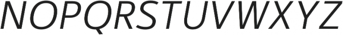 Kylo Sans Light Italic otf (300) Font UPPERCASE