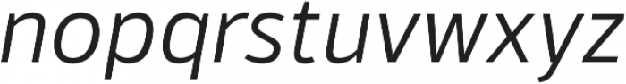 Kylo Sans Light Italic otf (300) Font LOWERCASE