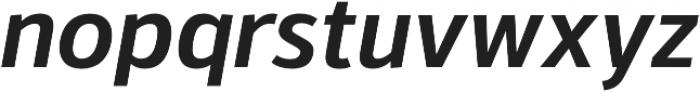 Kylo Sans Medium Italic otf (500) Font LOWERCASE