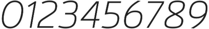 Kylo Sans Thin Italic otf (100) Font OTHER CHARS