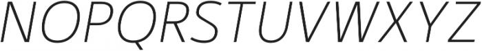 Kylo Sans Thin Italic otf (100) Font UPPERCASE