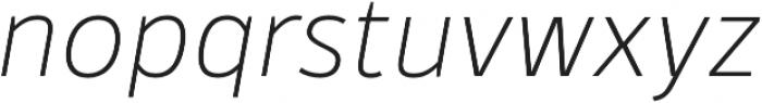 Kylo Sans Thin Italic otf (100) Font LOWERCASE