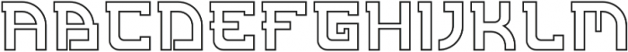 Kyoto Outline otf (400) Font LOWERCASE