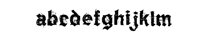 KyvadloBlues Font LOWERCASE