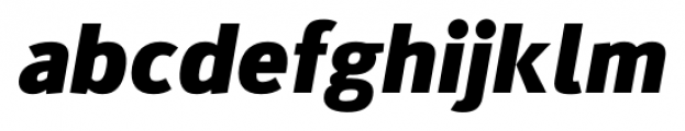 Kylo Sans Extra Bold Italic Font LOWERCASE