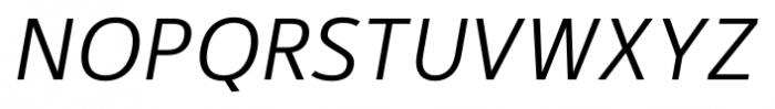 Kylo Sans Light Italic Font UPPERCASE