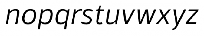 Kylo Sans Light Italic Font LOWERCASE