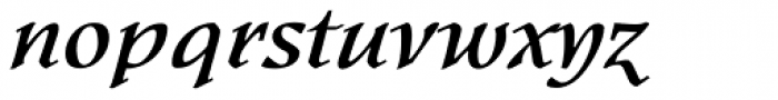 Kyiv Bold Italic Font LOWERCASE