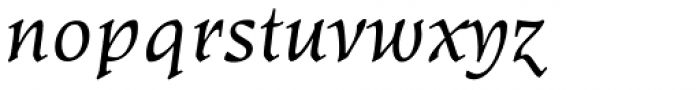 Kyiv Regular Half Italic Font LOWERCASE