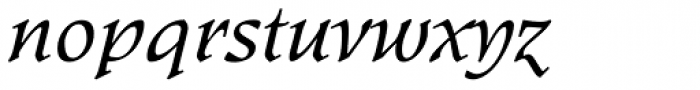 Kyiv Regular Italic Font LOWERCASE