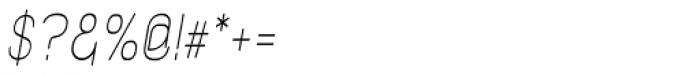 Kylemott Condense Oblique Font OTHER CHARS