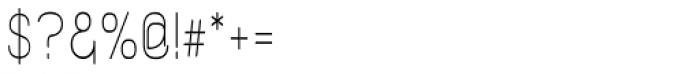 Kylemott Condense Font OTHER CHARS