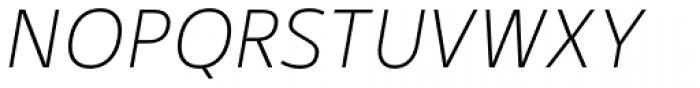 Kylo Sans Thin Italic Font UPPERCASE