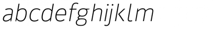 Kylo Sans Thin Italic Font LOWERCASE