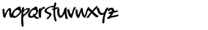 Kyoto Northern Regular Font LOWERCASE