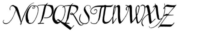 Kyrenia Quill TTW Font UPPERCASE