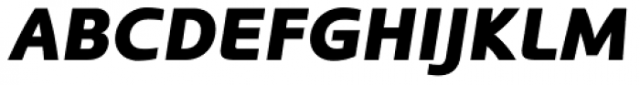 Kyrial Display Pro Black Italic Font UPPERCASE