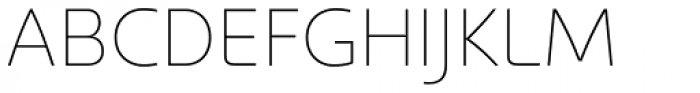 Kyrial Pro Display UltraLight Font UPPERCASE