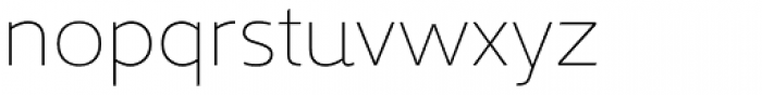 Kyrial Pro Display UltraLight Font LOWERCASE