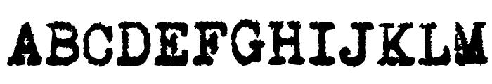 L.C. Smith 5 typewriter Font UPPERCASE