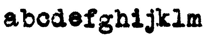 L.C. Smith 5 typewriter Font LOWERCASE