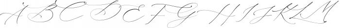 La Bohemia Regular ttf (400) Font UPPERCASE