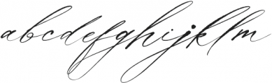 La Bohemia Regular ttf (400) Font LOWERCASE