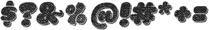 La Mona Pro Cloth More Shadow Texture Italic otf (400) Font OTHER CHARS