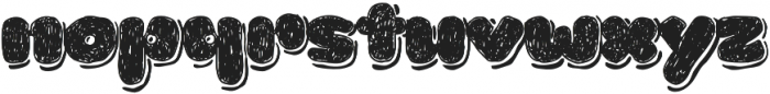 La Mona Pro Hand More Shadow otf (400) Font LOWERCASE