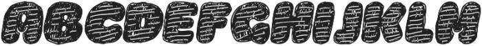 La Mona Pro Hand More Texture Italic otf (400) Font UPPERCASE