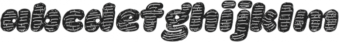 La Mona Pro Hand More Texture Italic otf (400) Font LOWERCASE