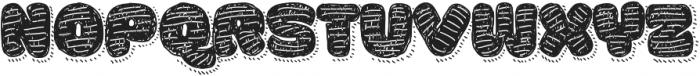 La Mona Pro Hand Texture more Shadow Line otf (400) Font UPPERCASE