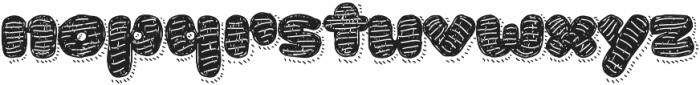 La Mona Pro Hand Texture more Shadow Line otf (400) Font LOWERCASE