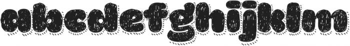 La Mona Pro Hand With Shadow Line otf (400) Font LOWERCASE