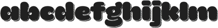 La Mona Pro Regular more Shadow Texture. otf (400) Font LOWERCASE
