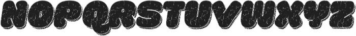 La Mona Pro Rough Two Italic More Shadow Texture otf (400) Font UPPERCASE