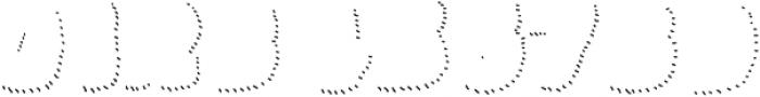 La Mona Pro Shadow Hand Line otf (400) Font OTHER CHARS