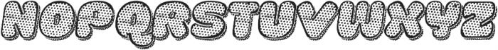 La Mona Pro Texture One More Shadow Texture Italic otf (400) Font UPPERCASE