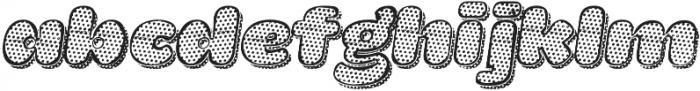 La Mona Pro Texture One More Shadow Texture Italic otf (400) Font LOWERCASE