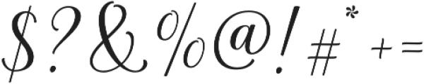 La Parisienne Script Casual otf (400) Font OTHER CHARS