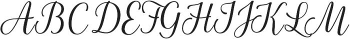 La Parisienne Script Casual otf (400) Font UPPERCASE