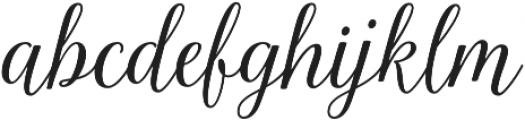 La Parisienne Script Casual otf (400) Font LOWERCASE