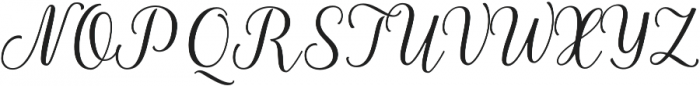 La Parisienne Script otf (400) Font UPPERCASE