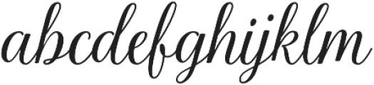 La Parisienne Script otf (400) Font LOWERCASE