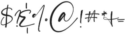 La Rosa Script otf (400) Font OTHER CHARS